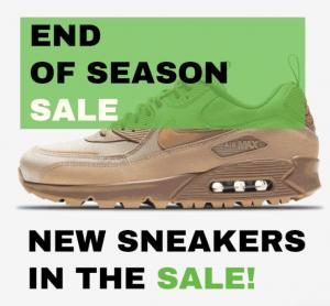 """SneakerBAAS """"End of Season Sale"""" Nike Air Max 90 Sale"""