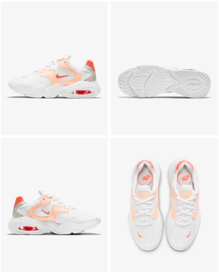 Nike Air Max 2X - Damesschoen Prijs: € 99,99 Kleur: Wit/Crimson Tint/Pearl White/Bright Mango