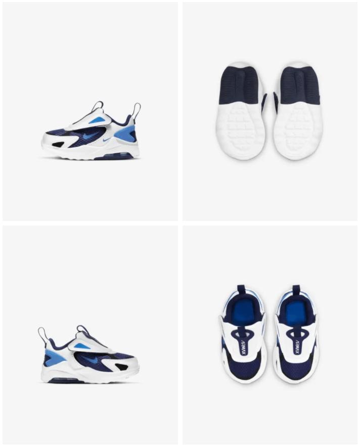 Nike Air Max Bolt - Baby- en peuterschoen Prijs: € 54,99 (Dit is de originele prijs zonder de 20% korting) Kleur: Blue Void/Wit/Zwart/Signal Blue Verkrijgbaar in de maten: 17 t/m 27