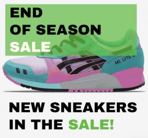 """SneakerBAAS """"End of Season Sale"""" Asics sale"""
