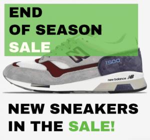 """SneakerBAAS """"End of Season Sale"""" - New Balance sneakers"""