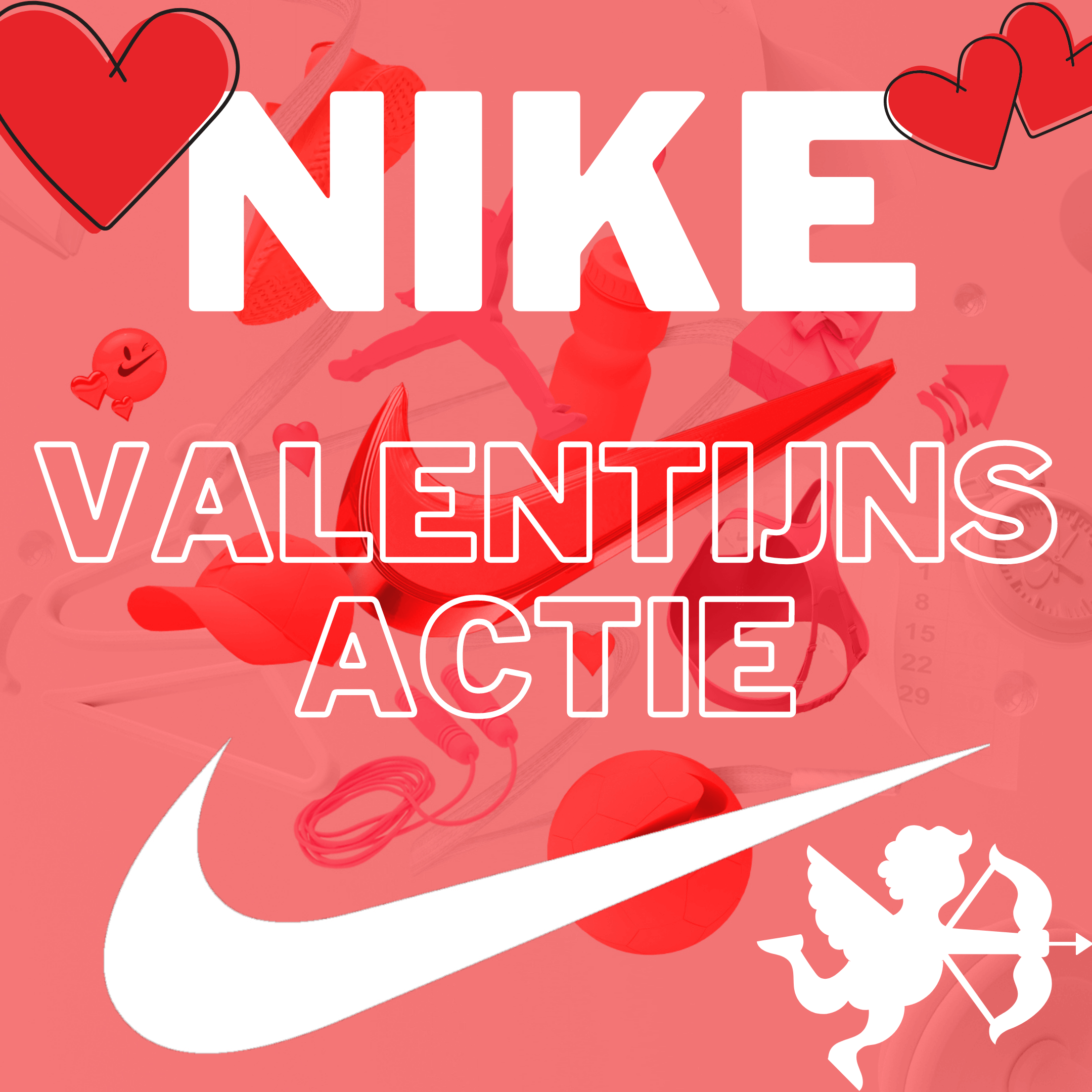 Nike Valentijnsactie/sale - 20% korting op full price items