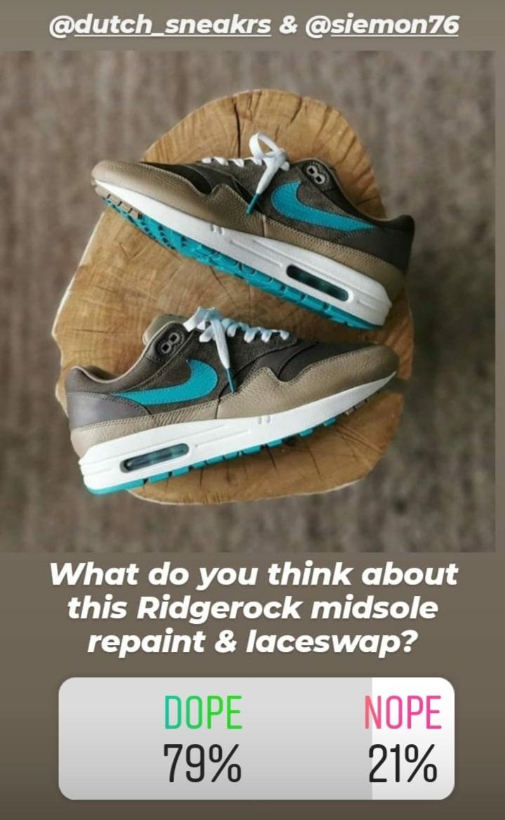 Nike Air Max 1 Midsole repaint en laceswap Sneakerplaats poll