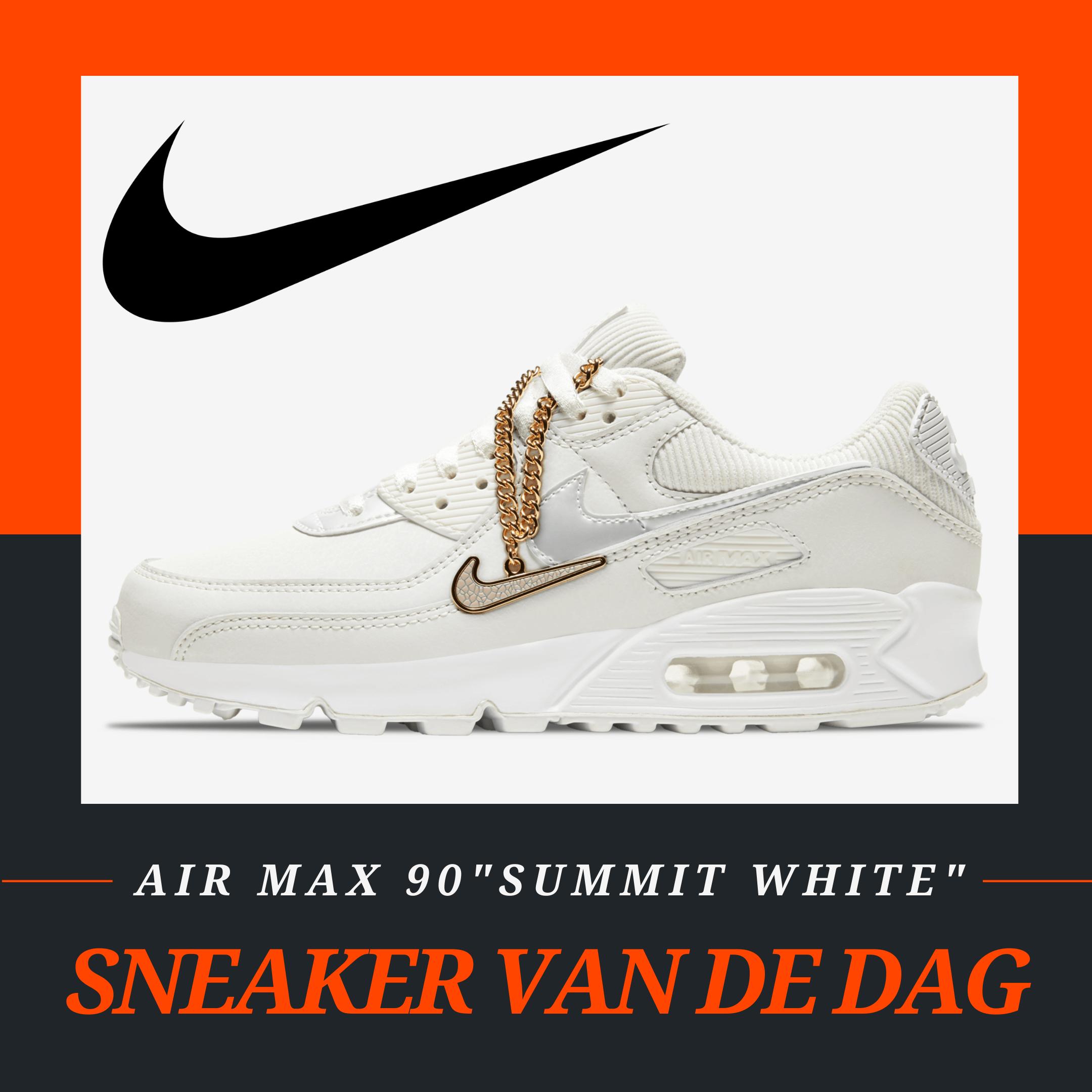 "Nike Air Max 90 ""Summit White"" is de ""Sneakerplaats Sneaker van de Dag"""