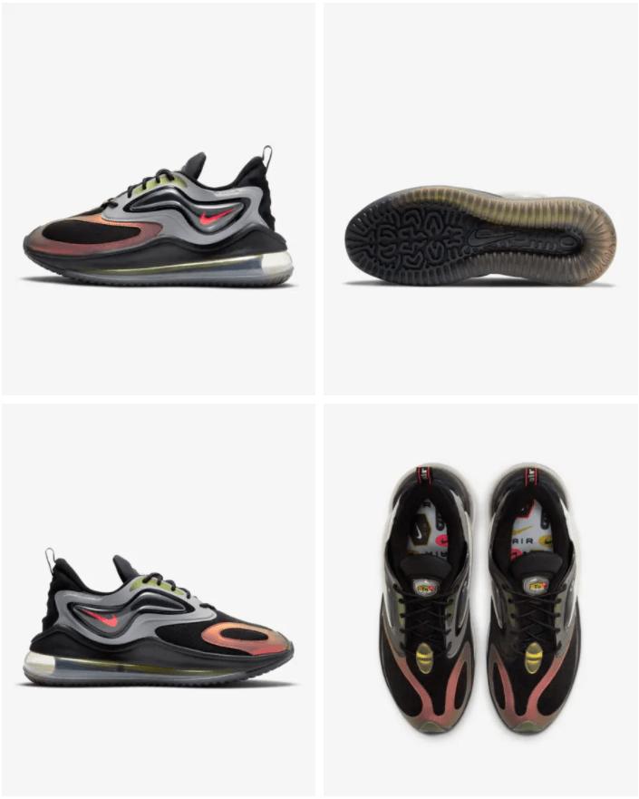Nike Air Max Zephyr EOI - Herenschoen Prijs: € 189,99 Kleur: Metallic Silver/Zwart/Bright Cactus/Bright Crimson