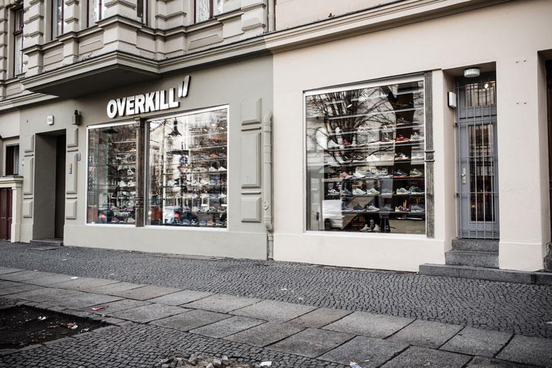 Sfeerimpressie van de OVERKILL store